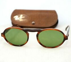 Bandl W0931 Sunglasses Vintage Gatsby Style 3 Oval Brown Bottle Green
