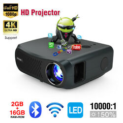 8500lumen Android Projector Wifi Native 1080p 4k Video 5g Wifi Blue-tooth Hdmi