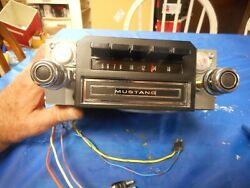 Reconditioned Original 1970 Ford Mustang Am 8track Radio W/ Knobs Show Quality