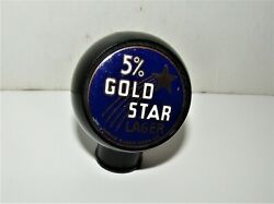5 Gold Star Lager Beer Ball Knob  Wausau , Wisconsin