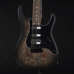Schecter Sd-2-24-as-vtr-br Satin Charcoal Burst Guitar From Japan Eqw774