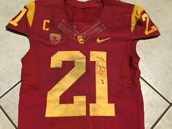 Nickell Robey-coleman Usc Nike Authentic Game Issued And Worn Jersey And Pants
