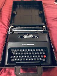Collectible Fully Restored Olivetti Lettera 35 Portable Typewriterw/ Extras