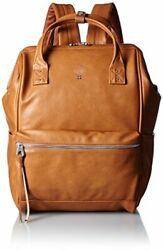 Anello Japan Camel Synthetic Leather Large Size Rucksack Laptop Backpack 180153 $147.40