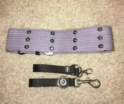 Grey Ghostbusters Belt And Clips