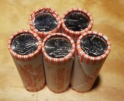 ☆☆lot Of 5☆☆ State Quarter 25c Uncirculated Rolls 2009-d Dist. Columbia Dc