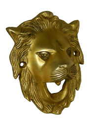 Lion Face Shape Antique Style Solid Brass Wall Mounted Bottle Opener Home Decor