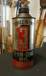 3-in-one Oil Quart Can Handy Oil Tin, England, Cone Top Three In One, 3 In 1