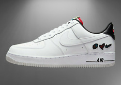 Nike Air Force 1 '07 Lv8 3 Shoes Peace And Love White Black Dm8148-100 Men's New