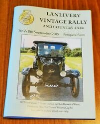 Lanlivery Cornwall Vintage Classic Car Rally 2019 Guide Brochure Model T Ford