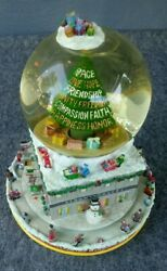 2001 Bloomingdales Broadway Cares Times Square Twin Towers New York Snow Globe