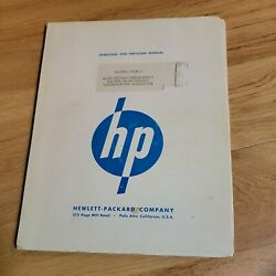 Hp Hewlett Packard Operating And Service Manual 500b C Electronic Freq Meter