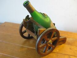 Vintage Cognac / Brandy Cannon Cart And Empty Bottle Napoleon Brandy Early 1970s