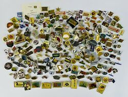 Assorted Vintage Collector Lapel Hat Pins Lot Of 266 Advertising, Travel, Etc.