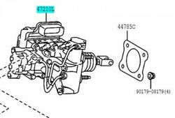 Toyota Genuine 47050-47250 Brake Booster Assy And Master Cylinder Prius Alpha