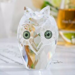 Mini Owl Crystal Statue Craft Miniature Figurines Paperweight Home Decor Gift
