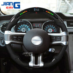 The Top Led Carbon Fiber Steering Wheel Fit For 2012-2014 Ford Mustang