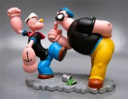 Extremely Rare Popeye Fighting Brutus Figurine Statue