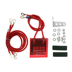 Durable Vehicle Red Fuel Saver Voltage Stabilizer Regulator With Wries Kit