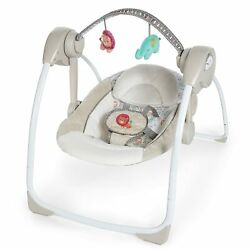Delight 6-speed Compact Portable Baby Newborn Swing With Music Toy Bar Travel