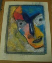 Modernist 1943 Watercolor Portrait By Acclaimed Artist And Author Henry Miller