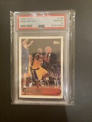 1996 Topps Kobe Bryant Rookie Card Rc Psa 10. New Label Flawless