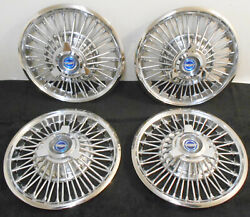 1965 1966 Ford Mustang Orig 14 Wire Wheel Covers Hub Caps Set W Spinners Show