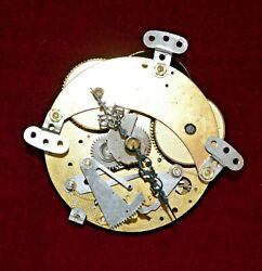 Vintage Franz Hermele Striking Clock Movement And Hands Not Working Spares/repair