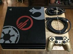 Sony Ps4 Playstation 4 Pro Console Star Wars Battlefront Ii Limited Edition