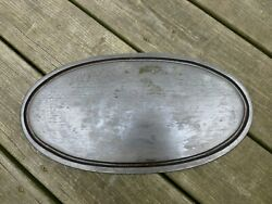Vintage Cast Iron Oval Flat Griddle Plate Tray Trivet Grill Stove Top Camping