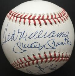 500 Home Run Club Autographed Nl Ball Mickey Mantle Ted Williams 11 Sig Jsa