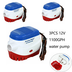 Automatic Submersible Boat Bilge Water Pump 3pcs 12v 1100gph - With Float Switch
