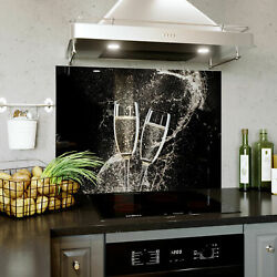 Glass Splashback Kitchen Tile 590x750 Mm Bespoke 2925and039and039x26and039and039 / 742x660 Mm