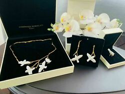 Lladro Magic Forest Set Forest Necklace Ring Earrings Gold-plated 18k On Silver