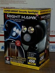 New Night Hawk Wireless Motion-activated Led Super- Bright Security Spotlight