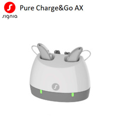 2 Brand New Signia Pure Chargeandgo Ax 3/5/7 Hearing Aids + Free Charger