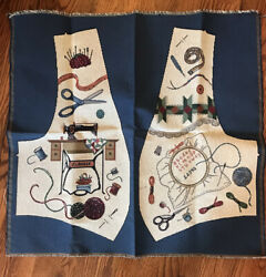 Vintage Tapestry upholstery Type Vest Fabric Panels Cut amp; Sew Sewing Quilting