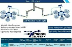 Shadow Free Led Ot Light Double Satellite Surgical Light Star 105+105 Ceiling Wa
