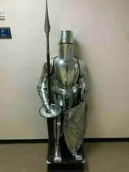 Medieval Suit Of Armor Knight Templar Fully Engraved Battlefield Costume