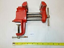 Vise, Sears Woodworkers Vintage Bench Vise, 3 Wide Jaws, Opens To 2-1/2