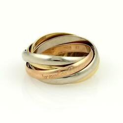 Trinity 18k Tri-color Gold 5 Rolling Rings Size Eu 51-us 5.5