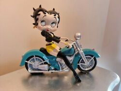 Extremely Rare Betty Boop Sexy On Green Motorcycle Figurine Statue