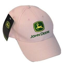 John Deere Women's Pink Adjustable Hat New With Tags Tractor Cap Cute Official