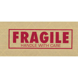 3 X 450' 'fragile' Tape Logic® 7500 Printed Reinforced Water Activated 100 Pcs