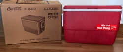Vintage 25 Qt Carry Picnic Cooler Ice Chest And Rare Box Leakproof Excellent