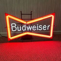 Budweiser Bow Tie Vintage Neon Sign, Great Condition