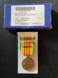 Graco Medal Set Republic Of Vietnam Service With Four Bronze Campaign Stars Lknw