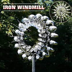 Unique And Magical Metal Windmill Outdoor Yard Garden Wind Spinner Wind Catcher