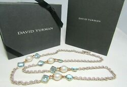 David Yurman Sterling Silver And 18k Topaz And South Sea Pearl 32.5 Necklace