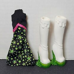 Monster High Clothes And Accessories Lot Scarah Screams Ghoul Fair Dress Boots